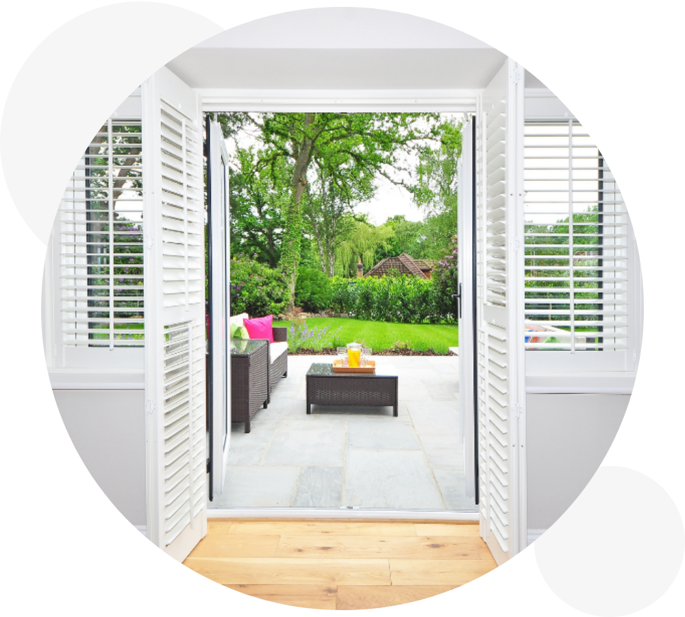 French Door Plantation Shutters Derry Page Image